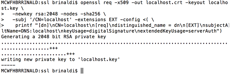 Running SSL on localhost | Remote Synthesis